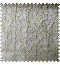 Beige Grey Twigs Forest Design Poly Main Curtain Designs